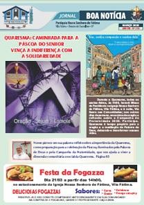 Clique aqui e leia nosso Jornal Boa Notícia de Março