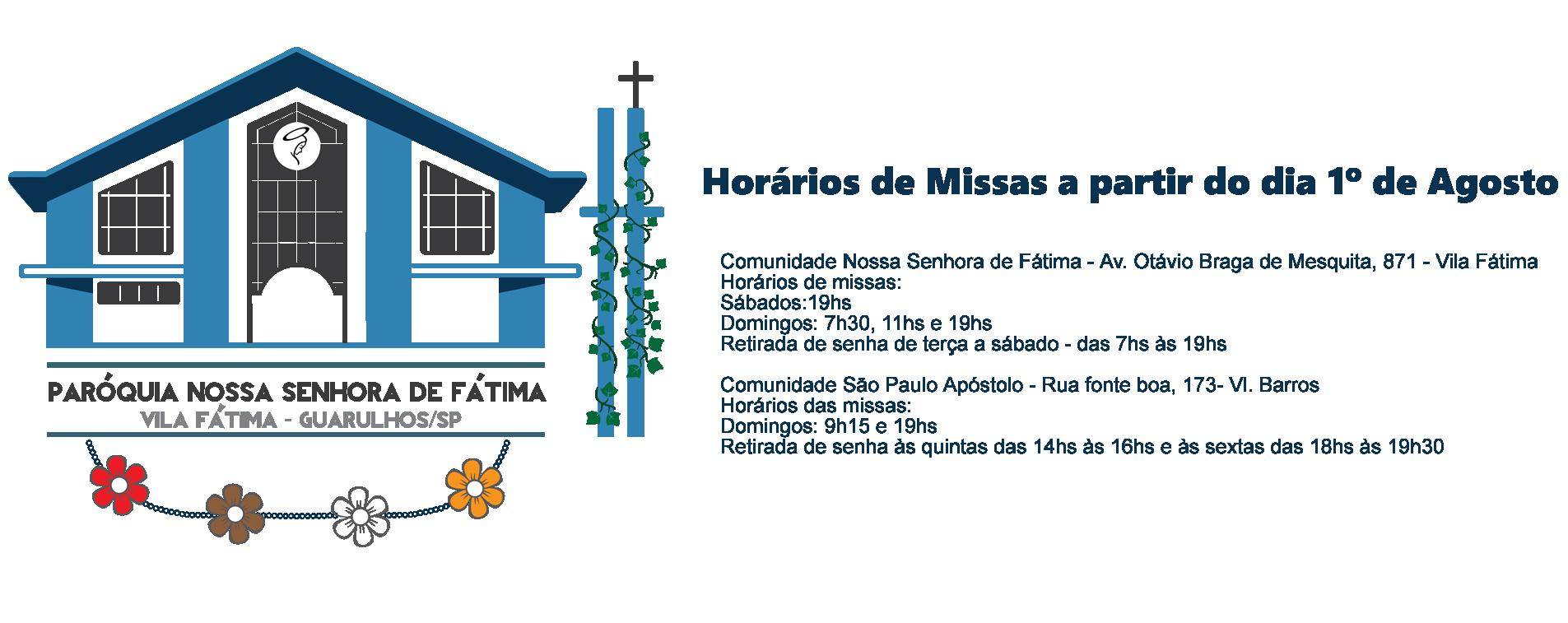 Paróquia Nossa Senhora de Fátima - Vila Fátima - Guarulhos/SP